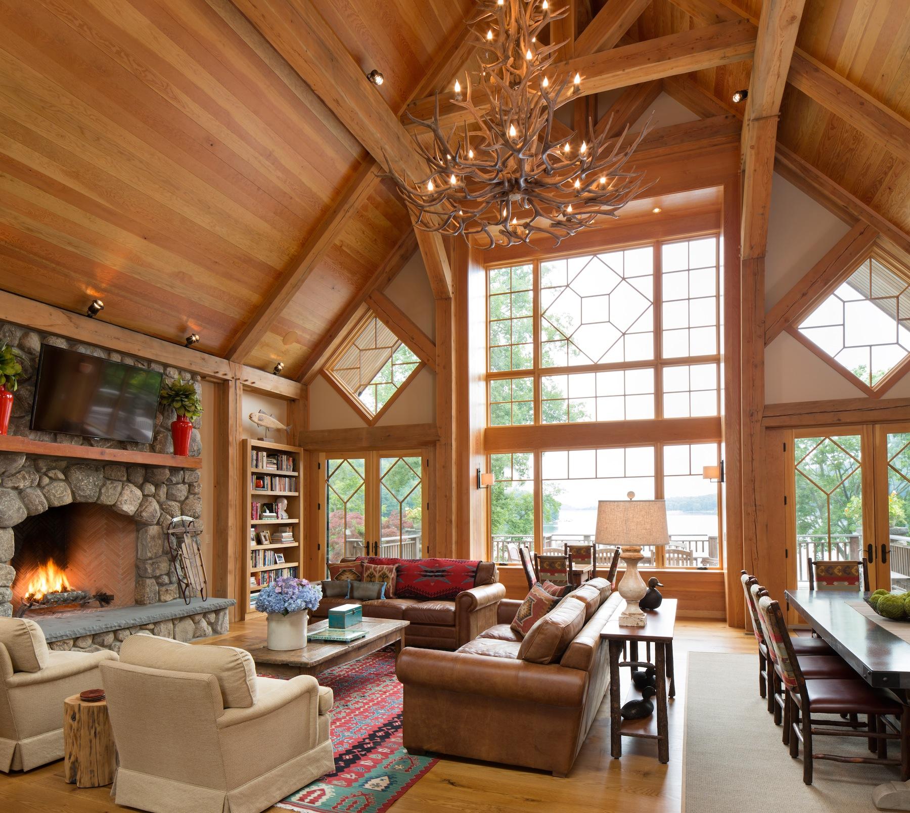 Lake Cabin Floor Plans New Milford Timber Frame Tasos Kokoris